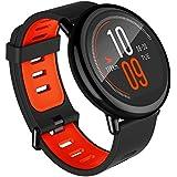 Xiaomi AMAZFIT Pace - Smartwatch con GPS Multideporte 1.34'' Táctil, GPS y Bluetooth, Monitor de Ritmo Cardíaco, Reproduce música sin Móvil, negro (Versión Internacional) iOs y Android