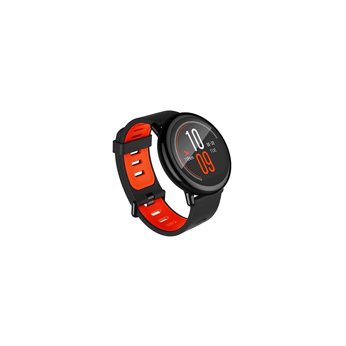515inZBMPrL. SS1200  - Amazfit Pace Black Pulsera Inteligente con Ritmo Cardíaco y GPS, Negro