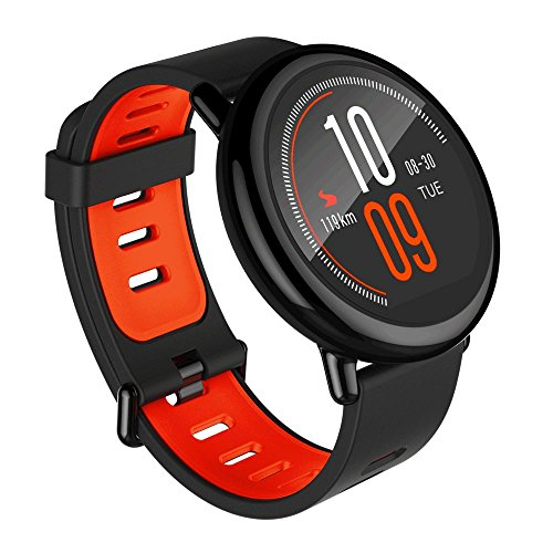 Xiaomi AMAZFIT Smartwatch w/Built-in GPS, Heart Rate Monitor, IP67 Water- Resistance - Black