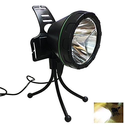 Kebaina La luz de pesca con trípode,LED Spotlight, no recargable,blanco