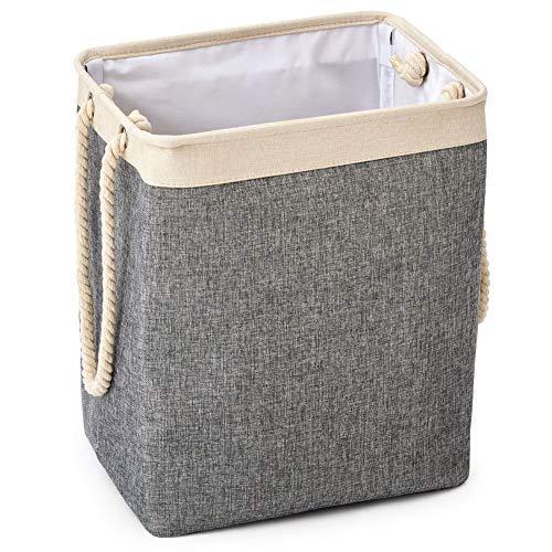 EZOWare Faltbarer Wäschekorb mit Griffen Leinen Großraumtrichter für Wäschekörbe Faltbarer Wäschekorb für Spielzeug Kleidung Organisation -65L