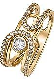JETTE Gold Damen-Ring 333er Gelbgold 53 Zirkonia gold, 60 (19.1)