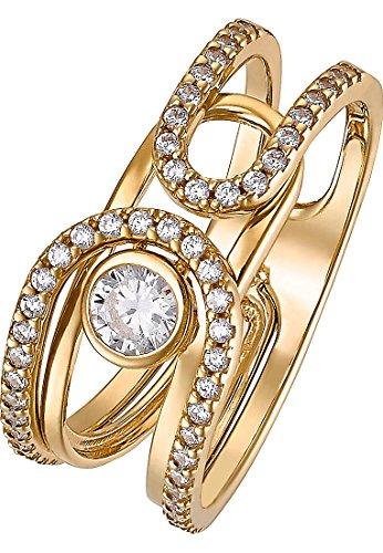 JETTE Gold Damen-Damenring 333er Gelbgold 53 Zirkonia 56 Gold 32004692