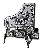 Unendlich U Luxus Schmuckschatulle Vintage Style mit Antique Klavier Schmuckkästchen für Damen/Mädchen,Reines Zinn-Schmuckstück,Silber