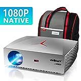 1080P Beamer, VIVIBRIGHT f40 Full HD Beamer, 4200 Lux 300