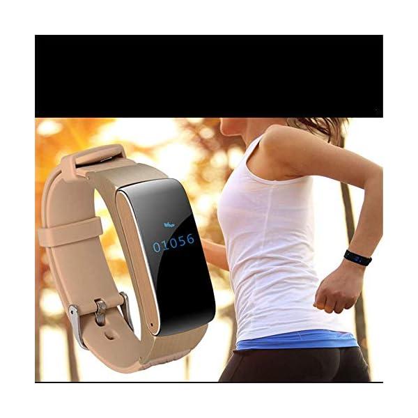 Nfudishpu Fitness Tracker Smart Wear Bracelet Health Monitor Bluetooth Call Watch Adecuado para Caminar, Correr, Bicicleta de montaña, Baloncesto, Danza, etc. 4