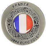 UEFA EURO 2016 - Offizieller Pin Silber französische Flagge rund