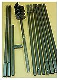 MWS-Apel Erdbohrer Erdlochbohrer Brunnenbohrer Pfahlbohrer 150 mm 10 meter Handerdbohrer