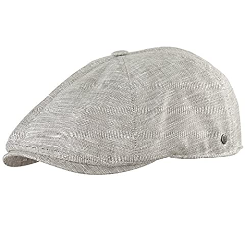 Schirmmütze Sommermütze Schiebermütze Herrenmütze UV- Schutz Wegener (59 cm, Beige hell meliert)
