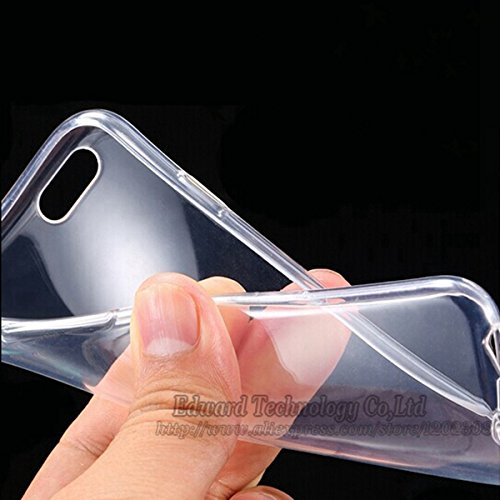 Handyschutzschale / Rückschale, Apple iPhone 6 / 6S (4,7 Zoll), ultra dünnes Design, 0,3 mm, weiches Silikon / TPU-Gel, Clear / Transparent, Iphone 6 / 6S Grau
