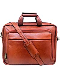 """Stylish 15.5""""Genuine Pure Leather Laptop Sleeve Messenger Office Bag With Shoulder Strap By-Widnes"""