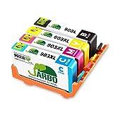 JARBO 903XL Pack 4 Cartouches Remanufacturéd Remplacer pour HP 903 903XL Cartouches d'encre, Compatible avec HP Officejet 6950, HP Officejet Pro 6960 6970(1 Noir/1 Cyan/1 Magenta/1 Jaune)