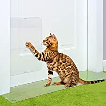 PETFECT - Juego de 2 Protectores de arañazos para Gatos y Puertas, diseño de tapón