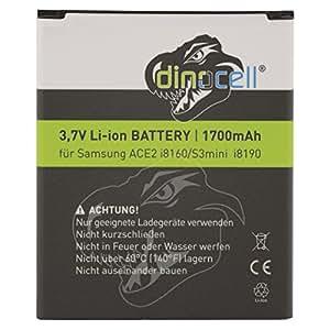 Dinocell® Batterie 1700mAh pour Samsung Galaxy S3 mini GT-i8190, Galaxy Ace2 GT-i8160, Galaxy Trend S7560, Galaxy S DuoS S7562, remplacement de EB-F1M7FLU, EB-L1M7FLU (sans NFC), EB425161LU
