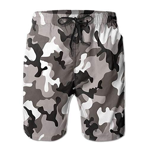 Men's Stamp Beach Fashion Ableelba Pant Shorts Xx Camouflage White Art Tide Large Black zLVpqUSMG