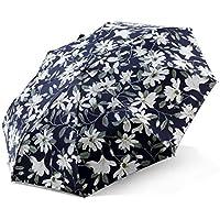La signora Ombrello Lily vinile nero ombra ombrellone Super Anti-ultravioletta Vento ombrello di pioggia e luce a doppio uso ( colore : Rosso )