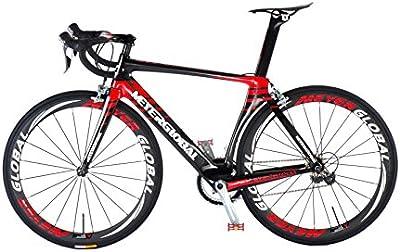 Carbono carretera bike-700C 50mm Clincher ruedas con Logo reflectante, Shimano 105Groupset