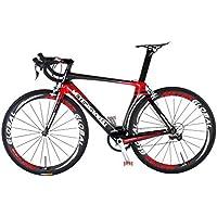 Strada in carbonio bike-700C 50mm ruote Clincher con logo riflettente, Shimano 105groupset - Strada Del Carbonio Frame Set