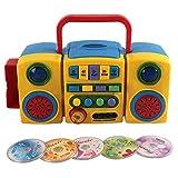 K9CK Lettore CD Portatile, Bambini MP3 Lettore CD con Pulsanti Grandi, Giocattolo Musicale Educativo Regalo per Bambina 3 Anni