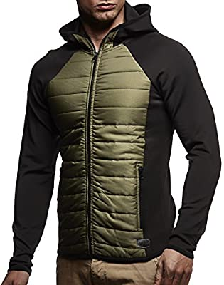 LEIF NELSON GYM Herren Sweatjacke Fitness Trainings Jacke Bekleidung Trainingsanzug LN8069