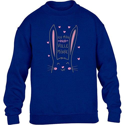 Kids Geschenkidee Ostern - Ich Mag Dich Volle Möhre Kinder Pullover Sweatshirt S 122/128 Blau