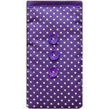 Vestido de lunares púrpura Teléfono Móvil calcetín funda para Samsung Galaxy Core Prime