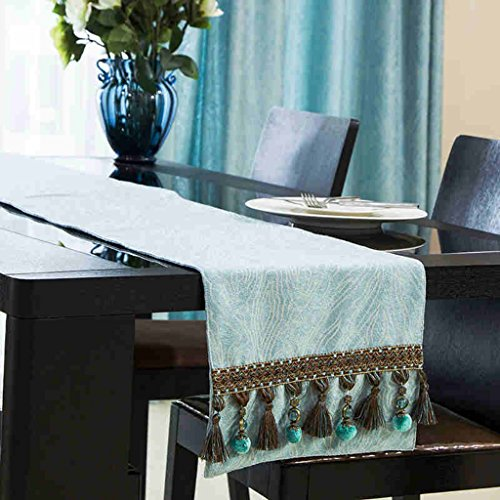 BSNOWF-Chemin de table Style Européen Table Runner Ripple Jacquard Chenille Table À Manger Table Basse Drapeau Chambre ( taille : 32*180cm )