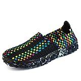 LXXAUnisex Étéélastique Weave Mesh Respirant Sport Sandales Séchage Rapide Chaussures De Randonnée Chaussures De Sport D'athlétisme,Green-43EU