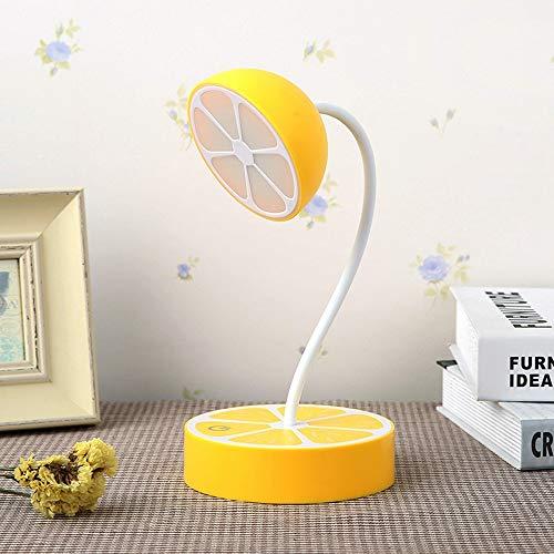 XIAOXINYUAN Kreative Nette Zitrone Touch Sensing USB Schlaf Nachtlicht LED Nachttischlampe Wohnkultur Liebhaber Geschenk Gelb -