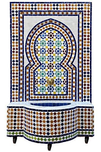 Marokkanischer orientalischer ORIGINAL Mosaik Gartenbrunnen Brunnen Mosaikbrunnen Zimmerbrunnen Muster 1 inklusive Pumpe