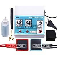 MEDGEARS Two Channel Machine Muscle Stimulator Machine Galvanic Stimulation Machine with 1 Year Warranty