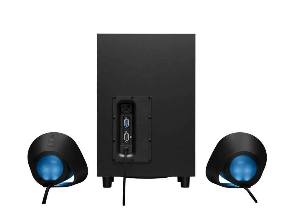 515ix9r g0L - Logitech G560 PC Gaming Ultra Surround Sound Speakers with Game Driven RGB Lighting, UK Plug