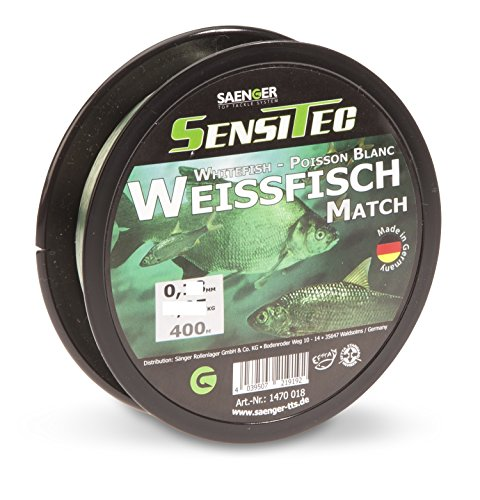SENSITEC Weissfisch/Match - Farbe: grün transparent - Ø 0,15mm/2,45kg/400m NEW 2018 Angelschnur monofil Sänger
