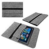 Lenovo Yoga Book Tasche Sleeve Hülle Tablet Cover Case 10.1 Zoll Filz Grau Nauci