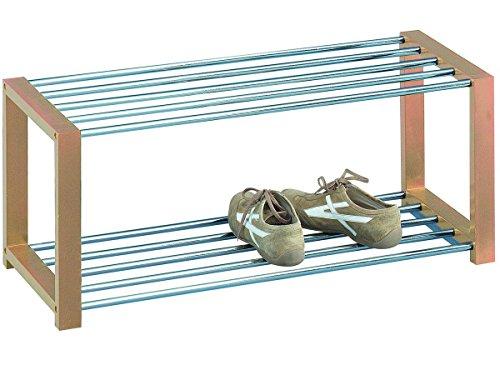Schuhregal Schuhbank Schuhschrank Schuhständer Schuhablage Schuh Regal 'Dette' (Buchefarbig)