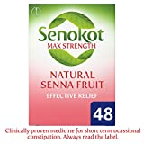Senokot Max Strength Natural Senna Tablets for Constipation Relief, Pack of 48