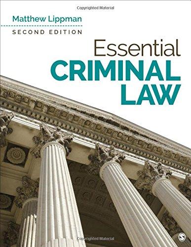 Essential Criminal Law por Matthew Lippman