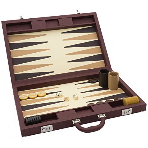 Luxus Braun Backgammon Set