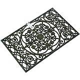 Chatsworth - Felpudo de hierro fundido, color negro