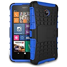 Funda Duro Tapa Case Cover - SODIAL(R)Para Nokia Lumia 630/635, Funda Carcasa Duro Tapa Case Cover con soporte (azul) + Gratis aguja de la pantalla stylus universales