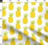 Wasserfarben, Ananas, Obst Stoffe - Individuell Bedruckt