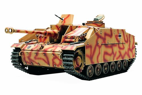 TAMIYA 300032540 - WWII Deutsches Sturmgeschütz III A.G, Frühe Ausführung, Militär Bausatz 1:48