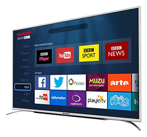 Sharp 49-Inch 4K Ultra HD Smart TV with Freeview HD – Silver