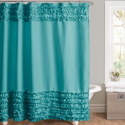 Lush Decor Skye Shower Curtain Turquoise