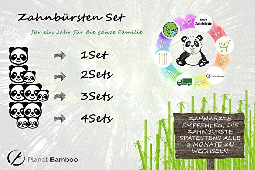 Planet Bamboo Bambus Zahnbürste für Kinder (4 Stück) - 9