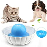 Super Silent Ceramic Pet Fountain for Dogs or Cats Sturdy Healthy Drinking Water Bowl 2.1L / 74 Oz Automatic Electric Water Dispenser Dishwasher Safe