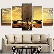 a8afd4cad5 WZYWLH Impresiones HD de Lona Posters 5 Unidades Avión Pinturas Al Aire  Libre Cuadros de Aviones