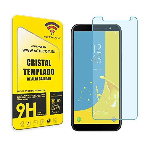 ACTECOM Protector Pantalla Cristal Templado para Samsung Galaxy J6 2018