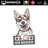 ERREINGE Sticker CHIEN À BORD Autocollant en forme de PVC pour Décalcomanie Voiture Casque Campeur lunette arrière - cm 10