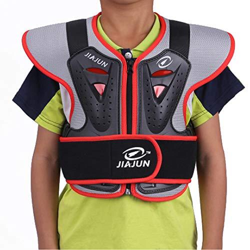 BUG-L Kinder Professionelle Rüstung Kleidung, Off-Road Motorrad Rüstung Ski Rückenschutz Splitterfeste Kleidung Sport Schutzausrüstung
